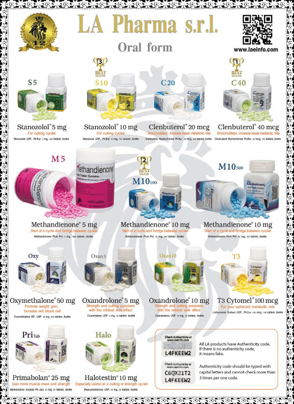 LA Pharma oral steroids