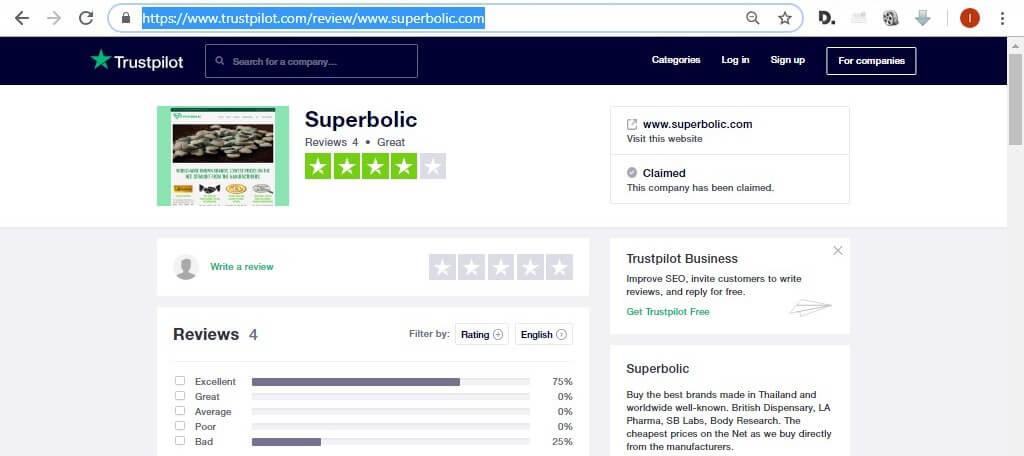 trustpilot reviews for superbolic